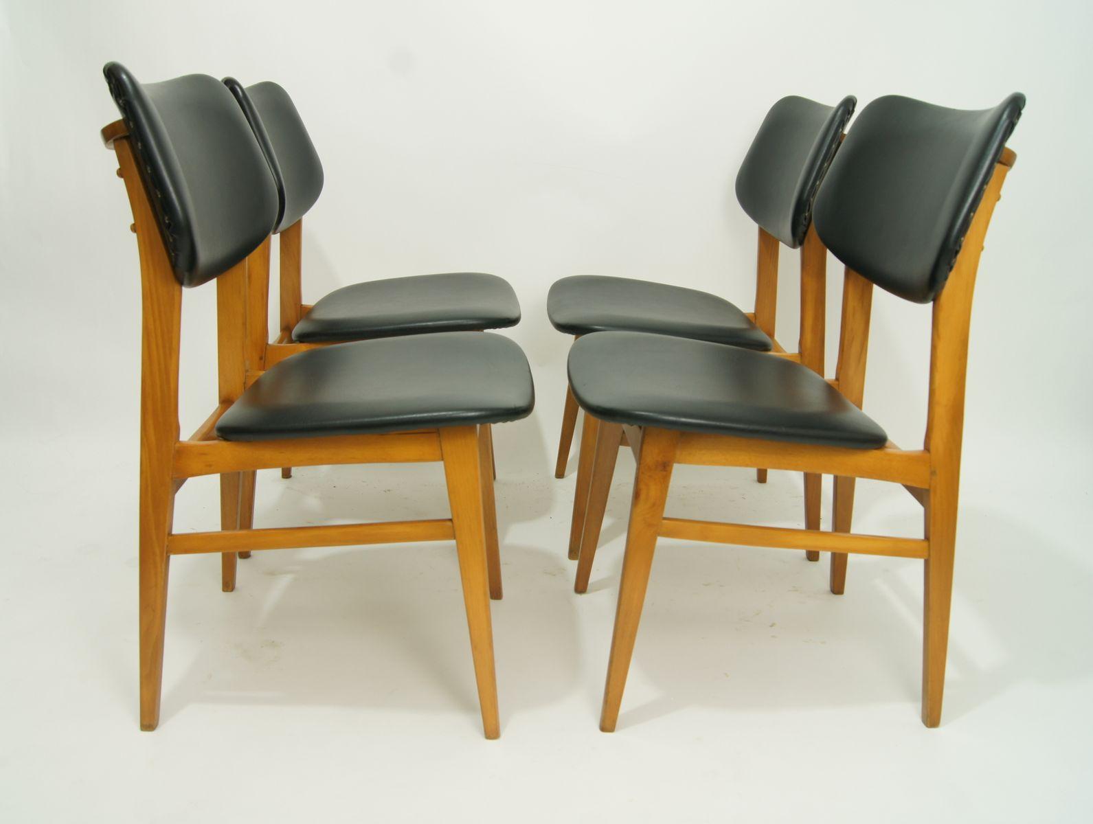 deutsche mid century st hle 1960er 4er set bei pamono kaufen. Black Bedroom Furniture Sets. Home Design Ideas