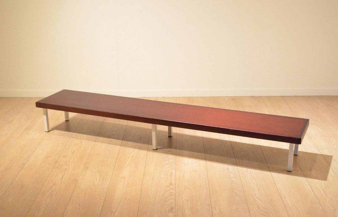 Mahogany Metal Long Low Bench 1960s For Sale At Pamono