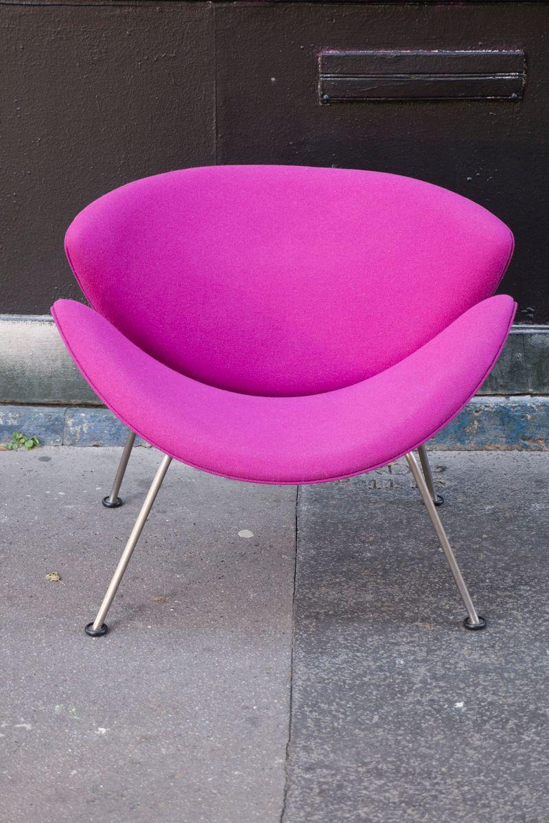 lila orange slice sessel von pierre paulin f r artifort. Black Bedroom Furniture Sets. Home Design Ideas