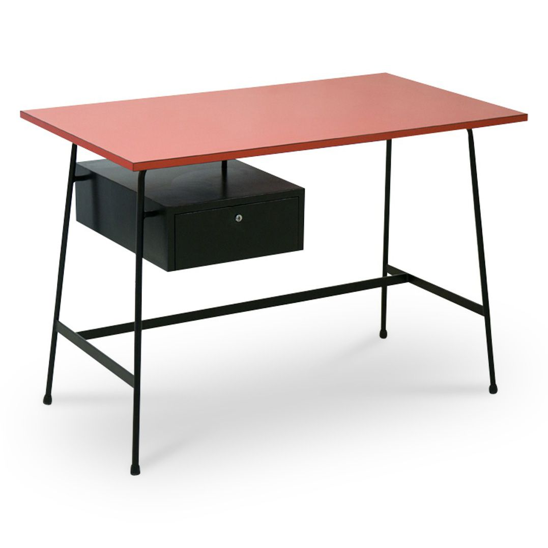 cm178 schreibtisch von pierre paulin f r thonet 1950er bei pamono kaufen. Black Bedroom Furniture Sets. Home Design Ideas