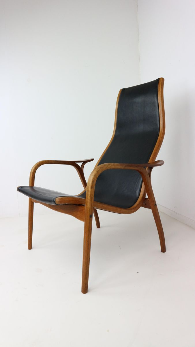 Vintage Lamino Easy Chair In Teak And Leather By Yngve Ekström For Swedese