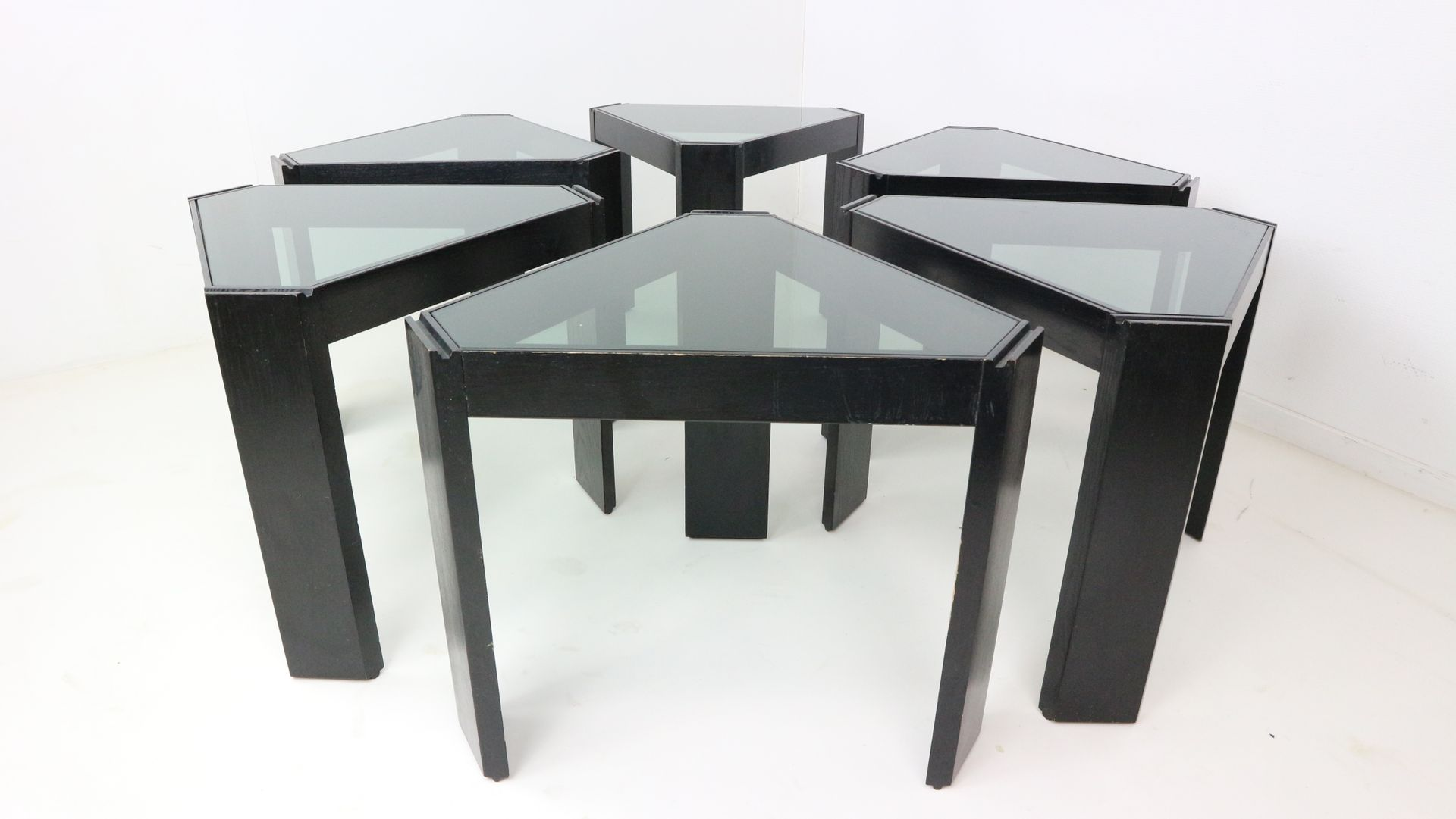 geometric stackable nesting tables by porada arredi s. geometric stackable nesting tables by porada arredi s for