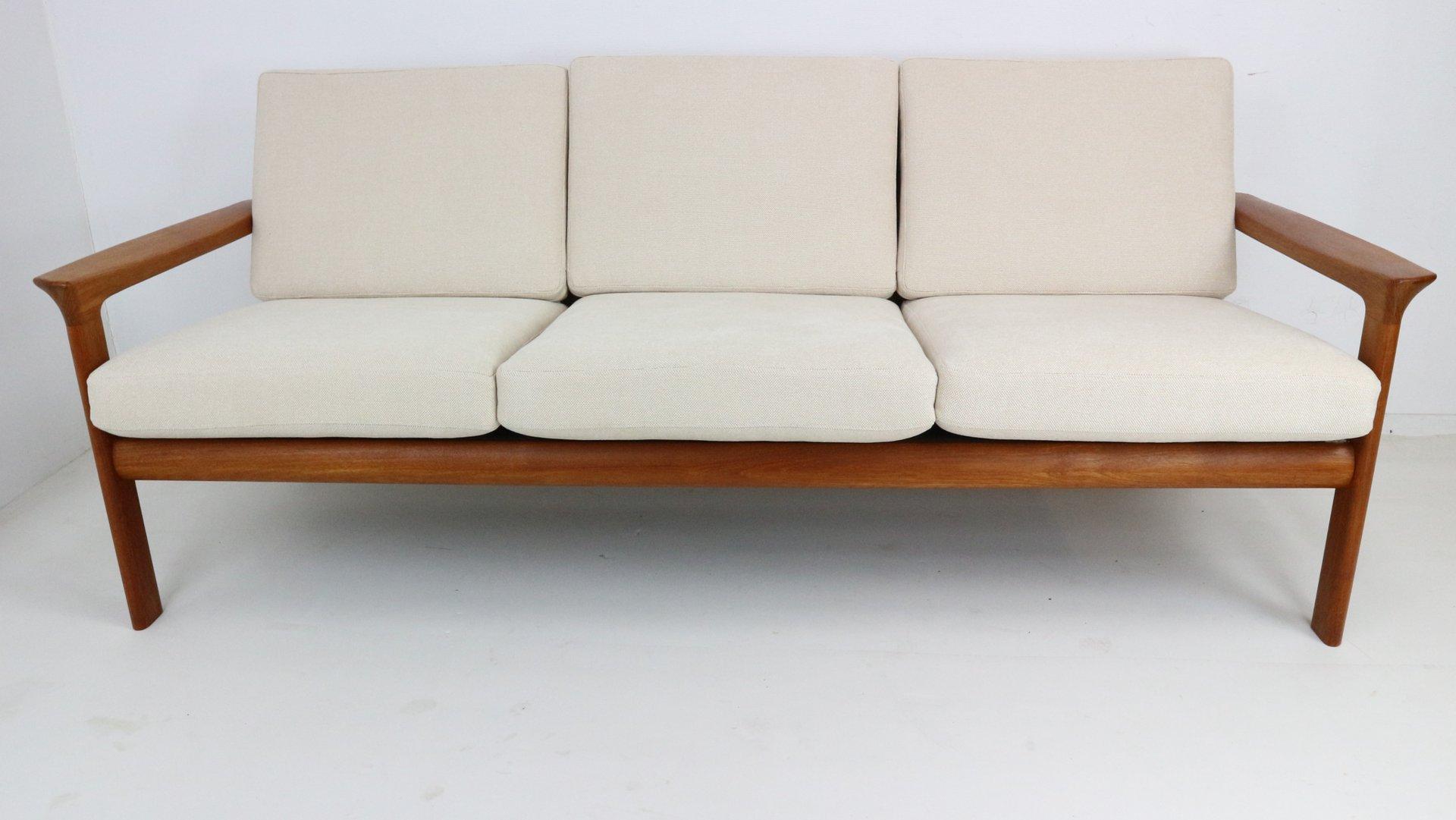 Danish Teak Three Seater Sofa By Sven Ellekaer For Komfort 1960s For Sale At Pamono