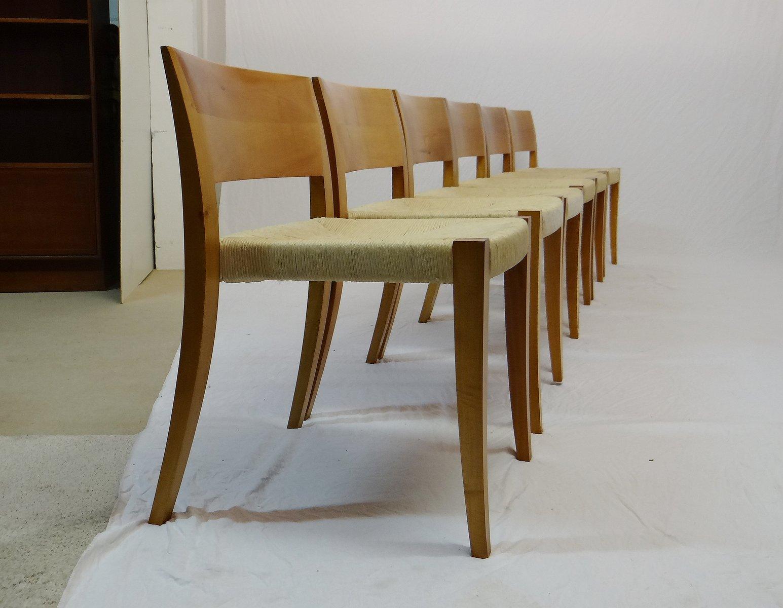Sedie da pranzo di molteni anni 39 80 set di 6 in vendita for Sedie design anni 80