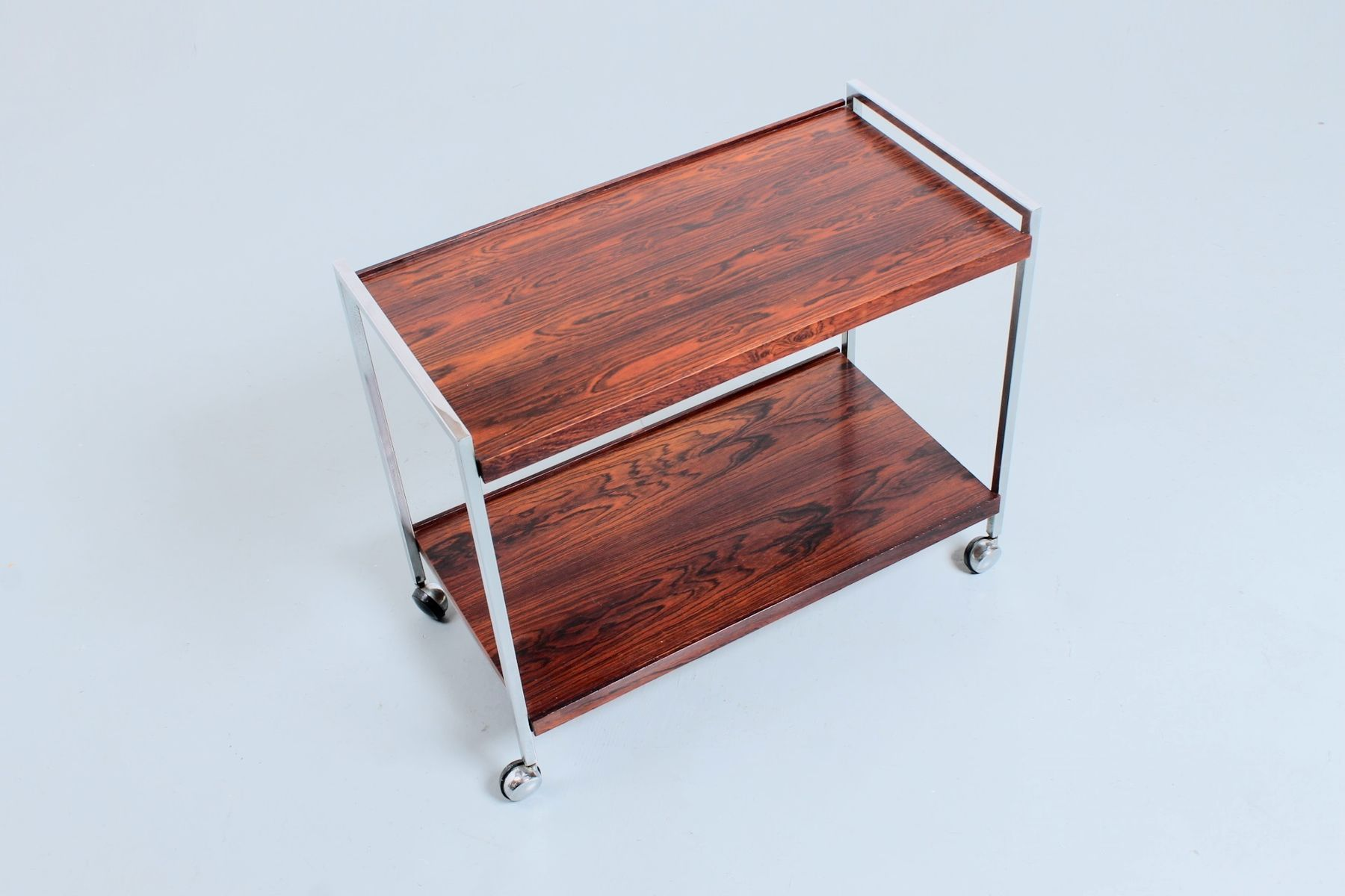 Rosewood chrome serving trolley cart from stiemsma 1970s for rosewood chrome serving trolley cart from stiemsma 1970s geotapseo Choice Image