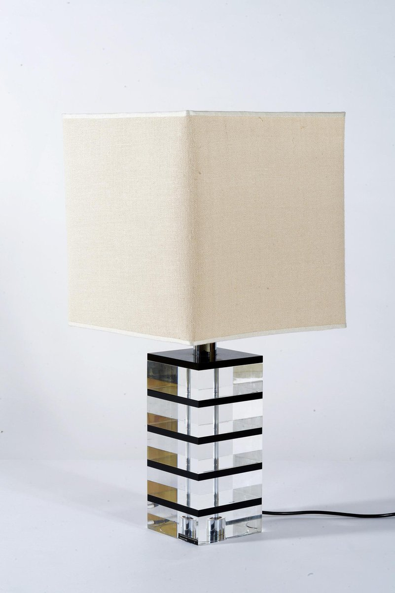 MidCentury Lucite Table Lamp by Botta for sale at Pamono