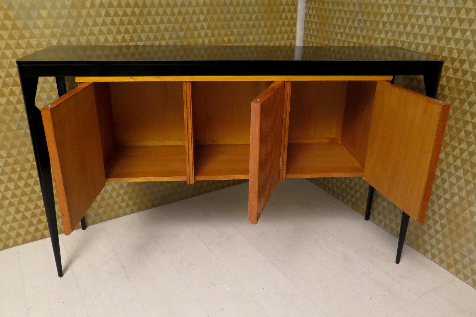 schwarzes art deco sideboard mit kirschholz bei pamono kaufen. Black Bedroom Furniture Sets. Home Design Ideas