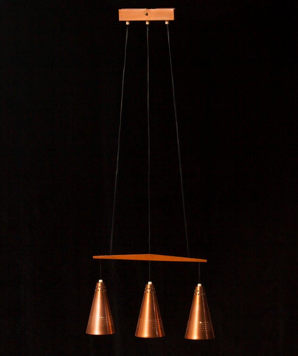 deckenleuchte aus kupfer und teak von hans ange jakobsson 1950er bei pamono kaufen. Black Bedroom Furniture Sets. Home Design Ideas