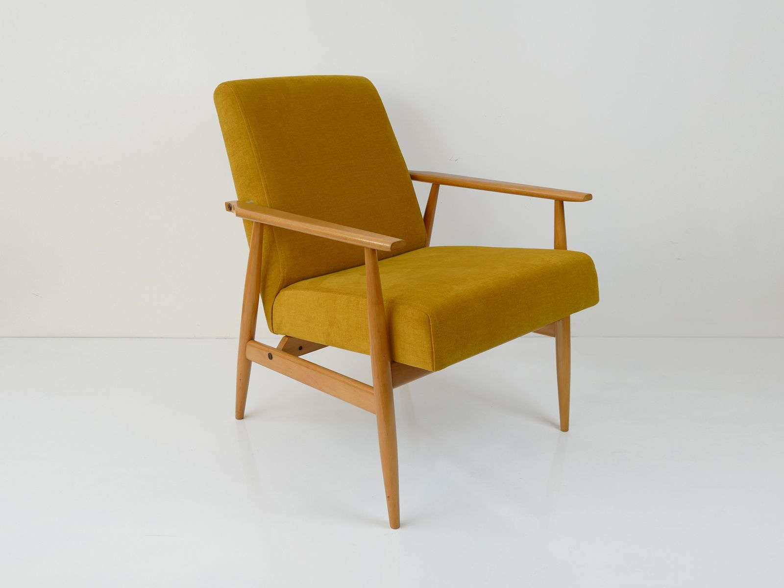 Vintage Polish Yellow Armchair