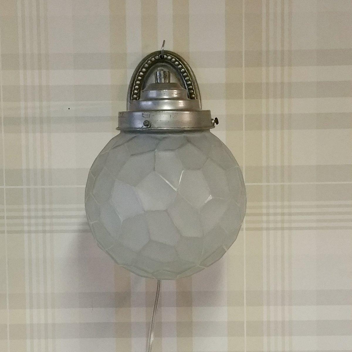 art deco wandlampe mit opalglaskugel 1920er bei pamono kaufen. Black Bedroom Furniture Sets. Home Design Ideas