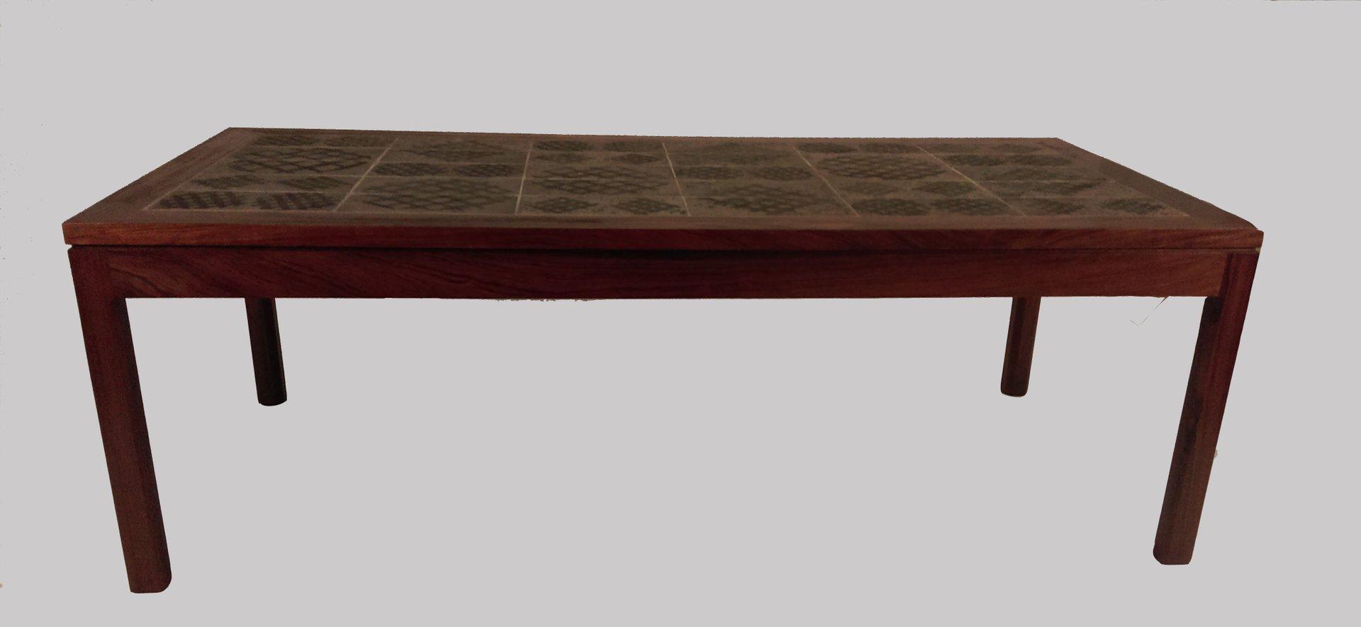 palisander couchtisch mit kacheln von tue poulsen 1960er bei pamono kaufen. Black Bedroom Furniture Sets. Home Design Ideas