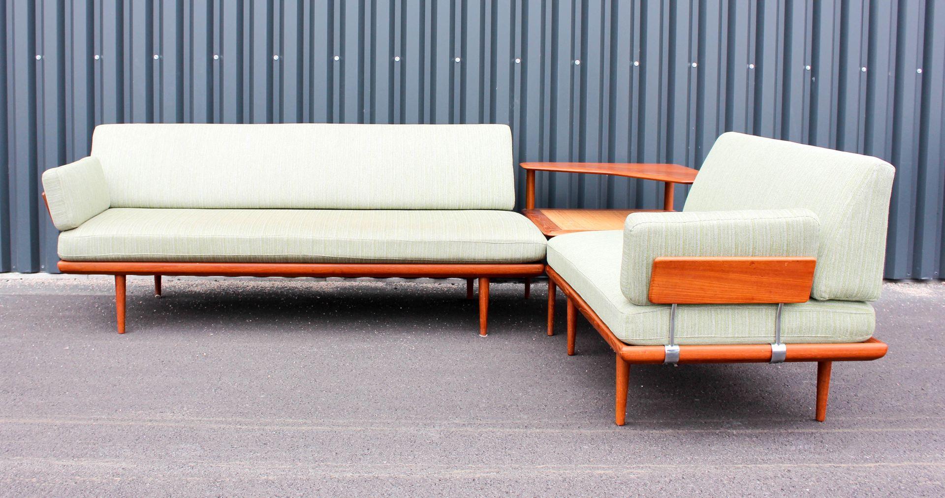 minerva sofa set und tisch von peter hvidt orla m lgaard f r france daverkosen 1950er bei. Black Bedroom Furniture Sets. Home Design Ideas