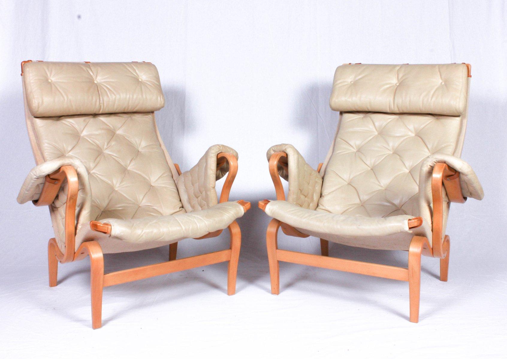 vintage leder pernilla sessel von bruno mathsson f r dux. Black Bedroom Furniture Sets. Home Design Ideas