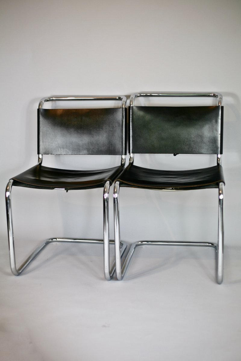 b33 st hle von marcel breuer f r gavina 1950er 2er set. Black Bedroom Furniture Sets. Home Design Ideas