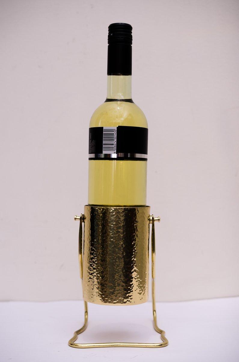 Hammered art nouveau wine bottle holder 1910s for sale at for Wine bottle artwork