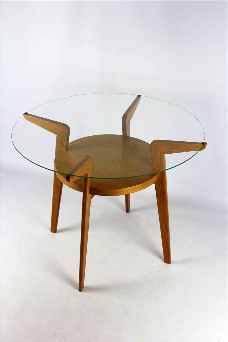 tschechischer couchtisch mit glasplatte von jitona 1960er bei pamono kaufen. Black Bedroom Furniture Sets. Home Design Ideas