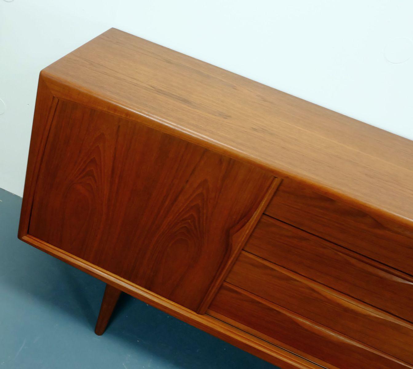 d nisches modernes sideboard aus teak bei pamono kaufen. Black Bedroom Furniture Sets. Home Design Ideas