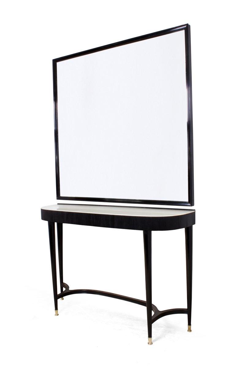 italienischer konsolentisch mit spiegel 1950er bei pamono kaufen. Black Bedroom Furniture Sets. Home Design Ideas