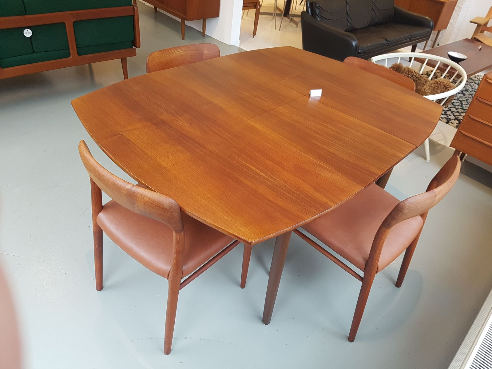 Vintage Teak Square Extendable Dining Table For Sale At Pamono