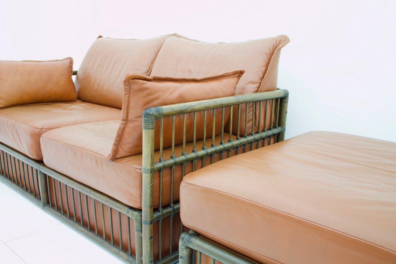 2 sitzer vintage ledersofa ottomane set von rolf benz 1978 bei pamono kaufen. Black Bedroom Furniture Sets. Home Design Ideas