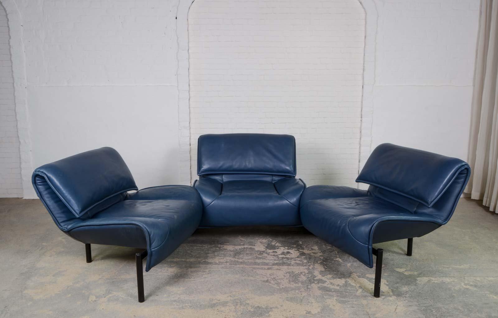 Blaues mid century veranda sofa von vico magistretti f r for Veranda englisch