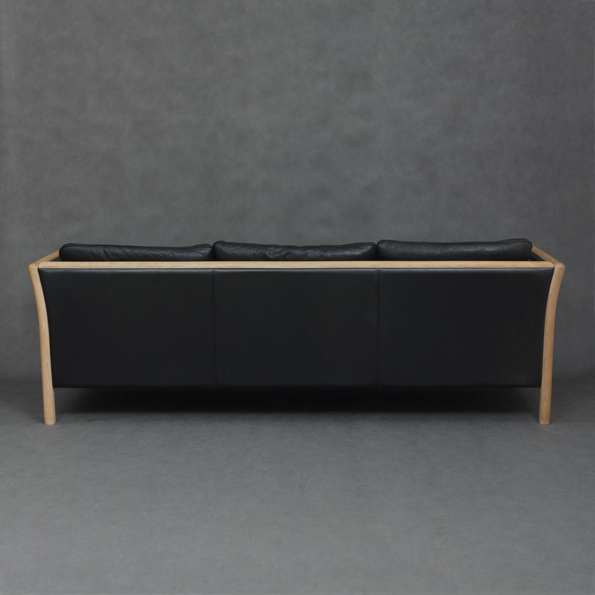 d nisches schwarzes ledersofa von mogens hansen 1980er. Black Bedroom Furniture Sets. Home Design Ideas