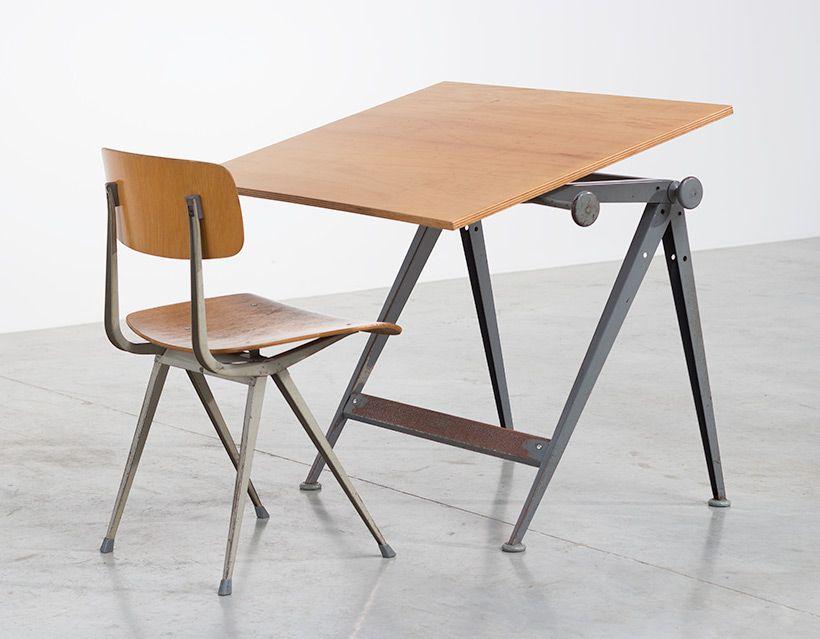 Vintage reply zeichentisch von wim rietveld mit result for Stuhl design dwg