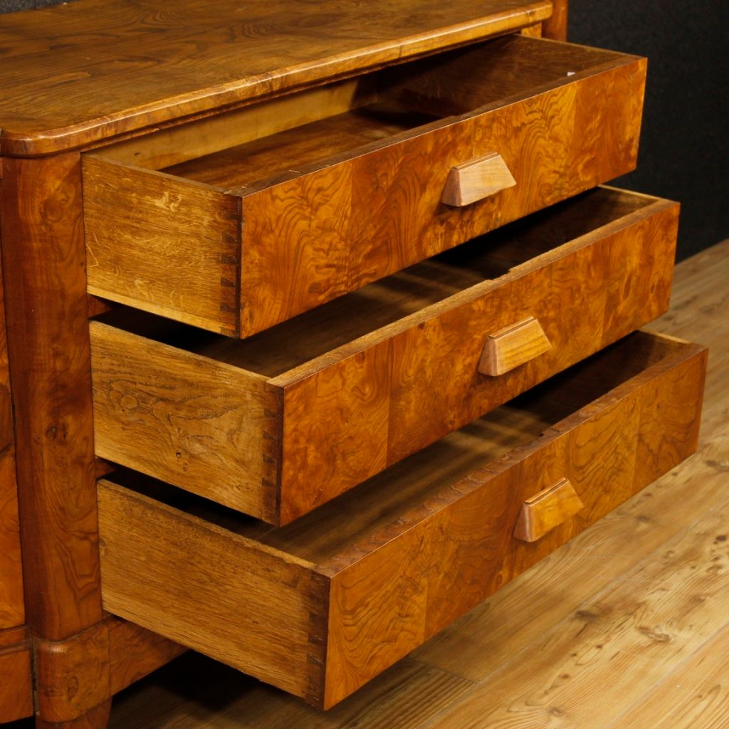 franz sisches mid century art deco sideboard aus holz bei. Black Bedroom Furniture Sets. Home Design Ideas