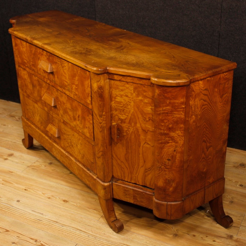 mid century french art deco sideboard in wood for sale at. Black Bedroom Furniture Sets. Home Design Ideas
