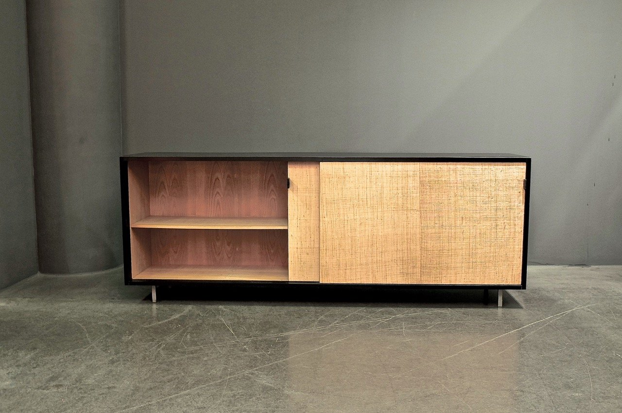 vintage b ro sideboard von florence knoll bassett f r knoll bei pamono kaufen. Black Bedroom Furniture Sets. Home Design Ideas