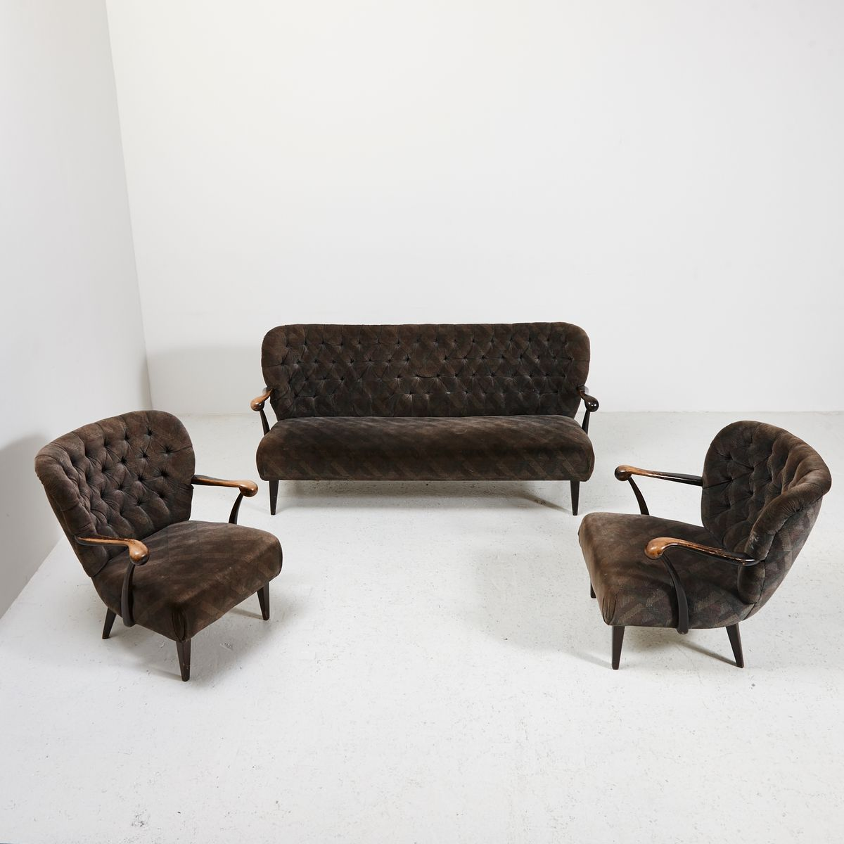 Mid century sofa set 1960s for sale at pamono for Sofa set for sale