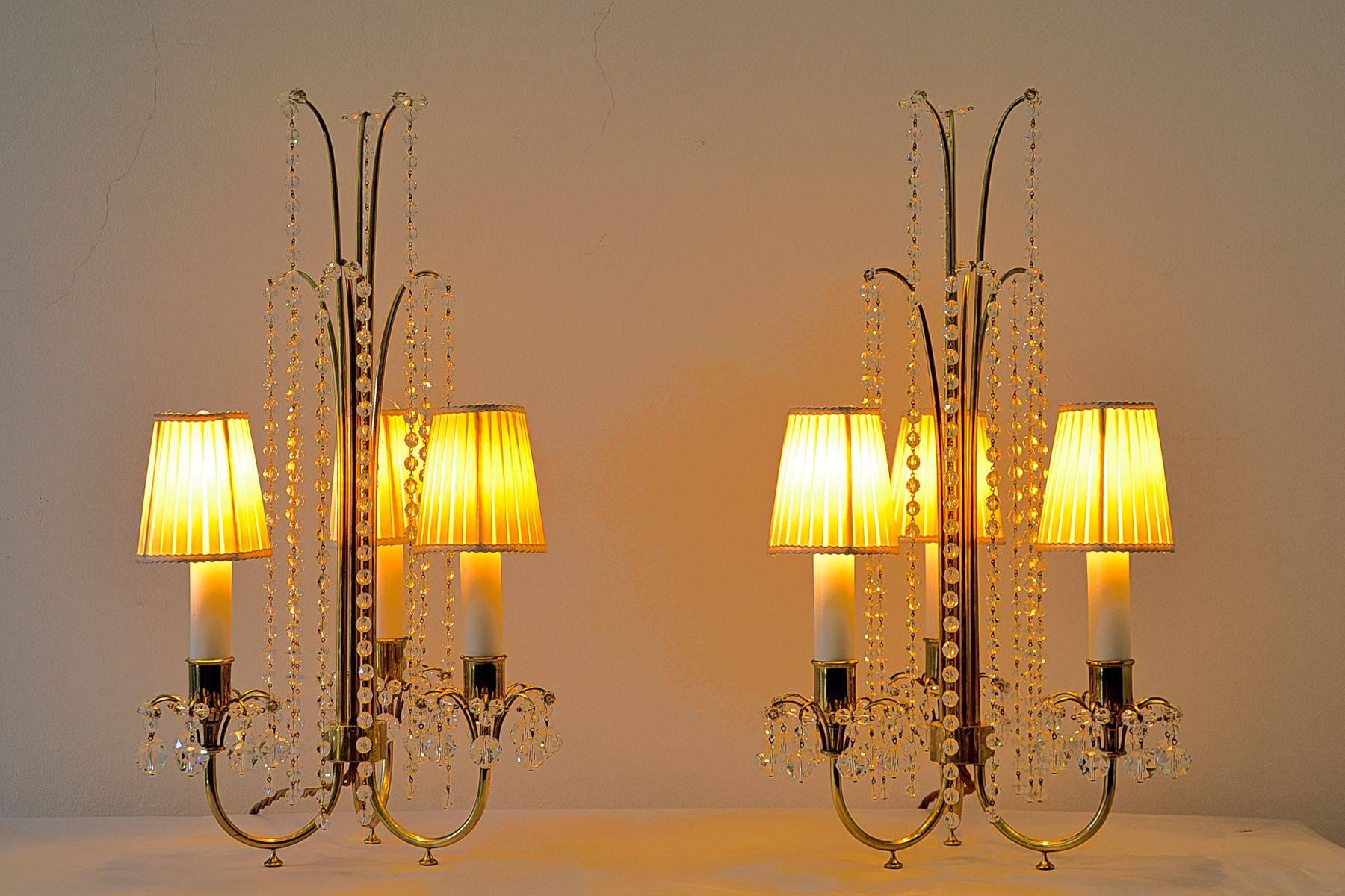 Table Lamps By J Amp L Lobmeyr 1950s Set Of 2 For Sale