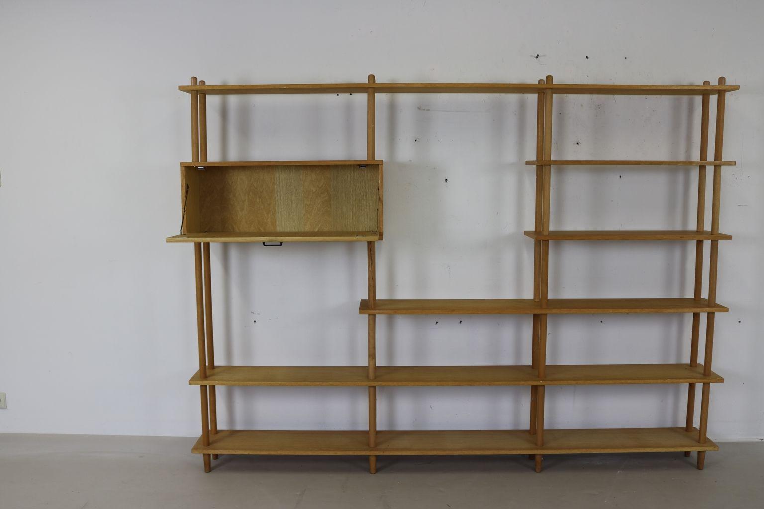 gro es niederl ndisches vintage regal bei pamono kaufen. Black Bedroom Furniture Sets. Home Design Ideas