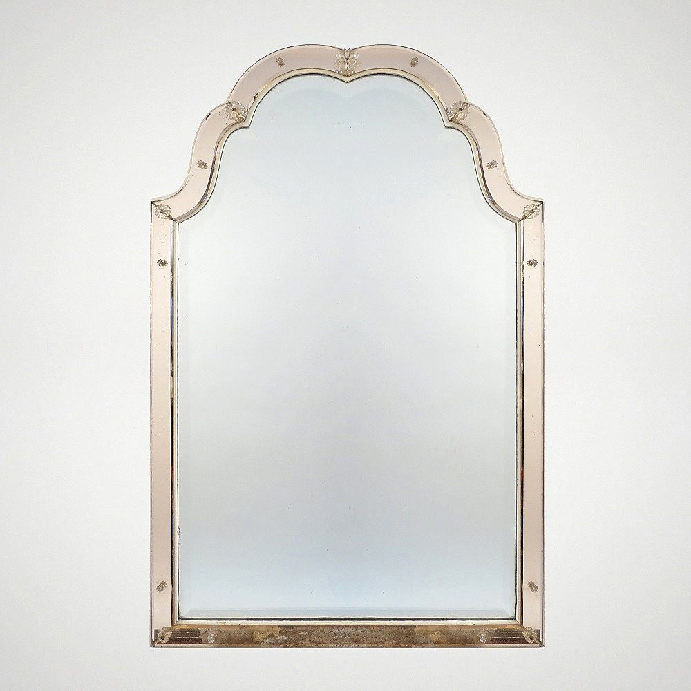 italienischer vintage spiegel mit holzrahmen 1940er bei pamono kaufen. Black Bedroom Furniture Sets. Home Design Ideas