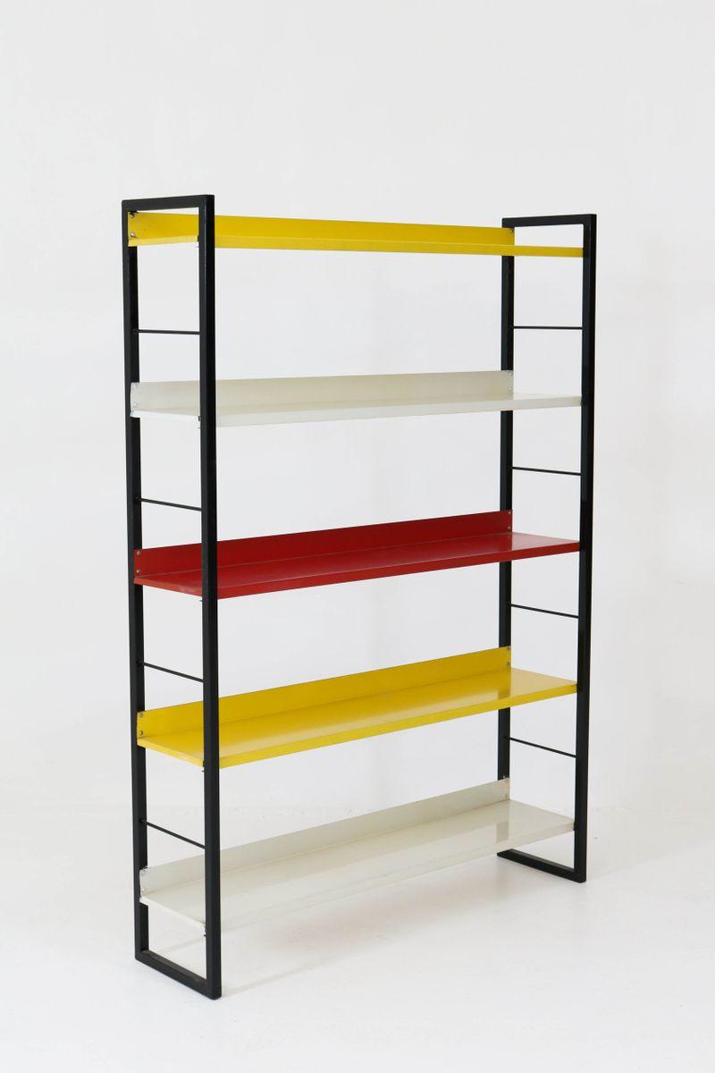 buntes mid century modern regal aus metall von tomado. Black Bedroom Furniture Sets. Home Design Ideas