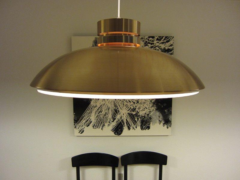d nische kupfer h ngelampe 1970er bei pamono kaufen. Black Bedroom Furniture Sets. Home Design Ideas