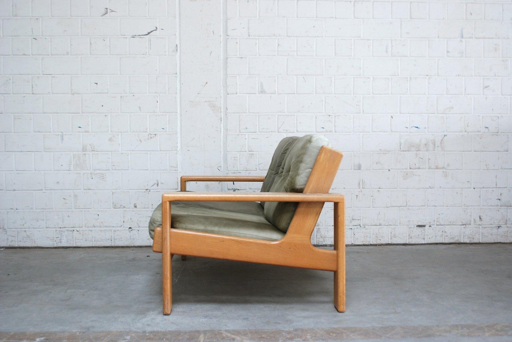 vintage bonanza green leather sofa by esko pajamies for asko for sale at pamono. Black Bedroom Furniture Sets. Home Design Ideas