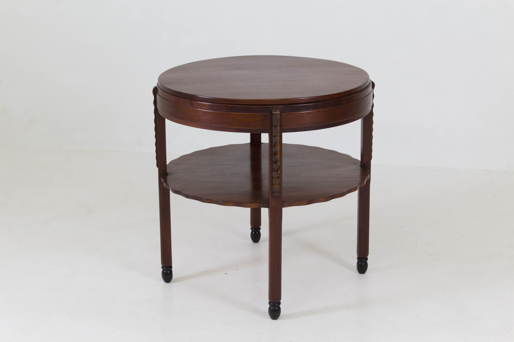 Art Deco Amsterdam School Mahogany Coffee Table From Fa.Drilling, 1920s