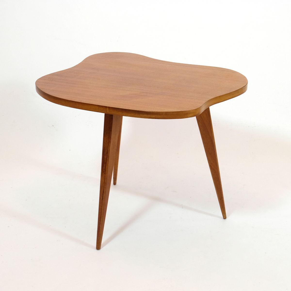 bohnenf rmiger franz sischer vintage tisch bei pamono kaufen. Black Bedroom Furniture Sets. Home Design Ideas