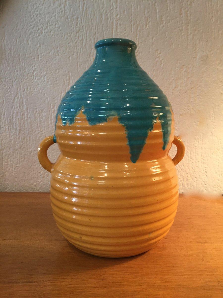 french art deco ceramic vase from primavera 1940s for. Black Bedroom Furniture Sets. Home Design Ideas