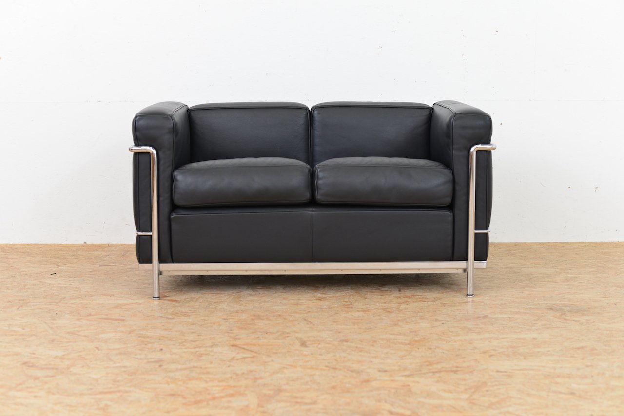 sofa le corbusier le corbusier 1928 lc2 sofa 2 seater ds 22 bauhaus age thesofa. Black Bedroom Furniture Sets. Home Design Ideas