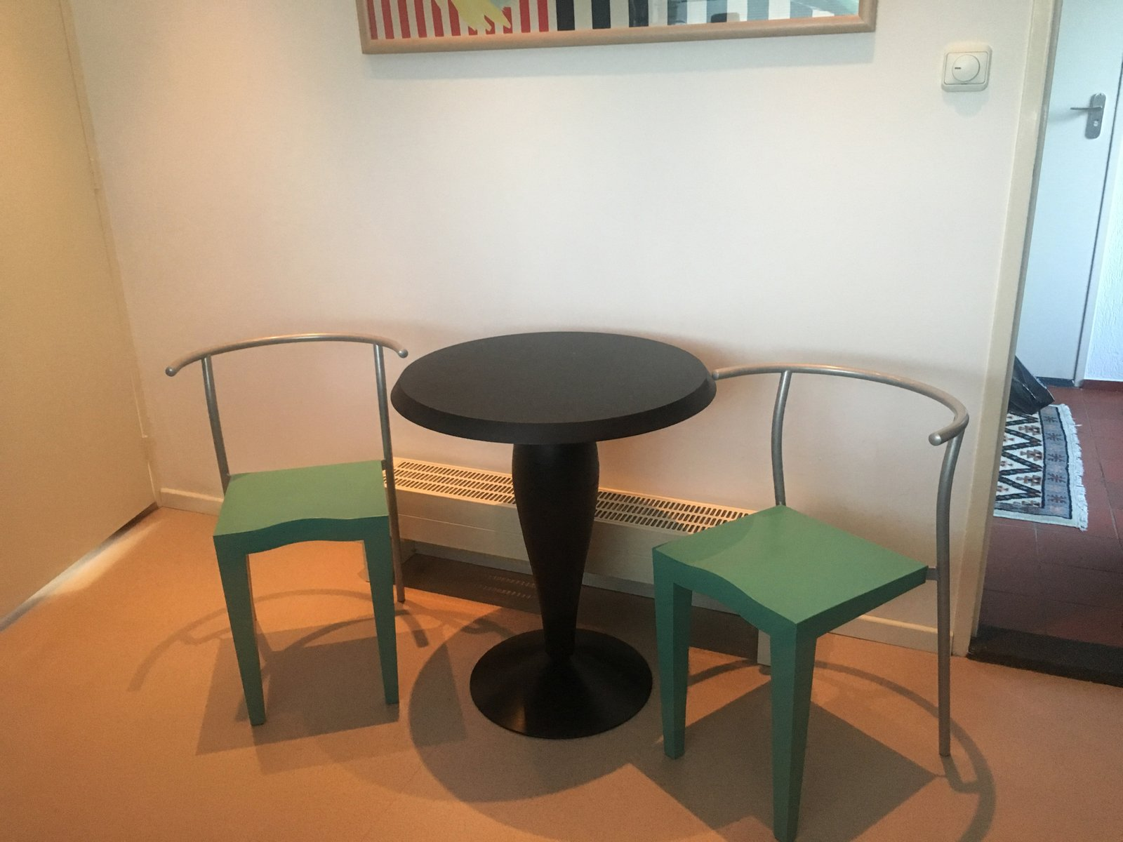 Vintage dining set by philippe starck for kartell 1980s for Deco kartell