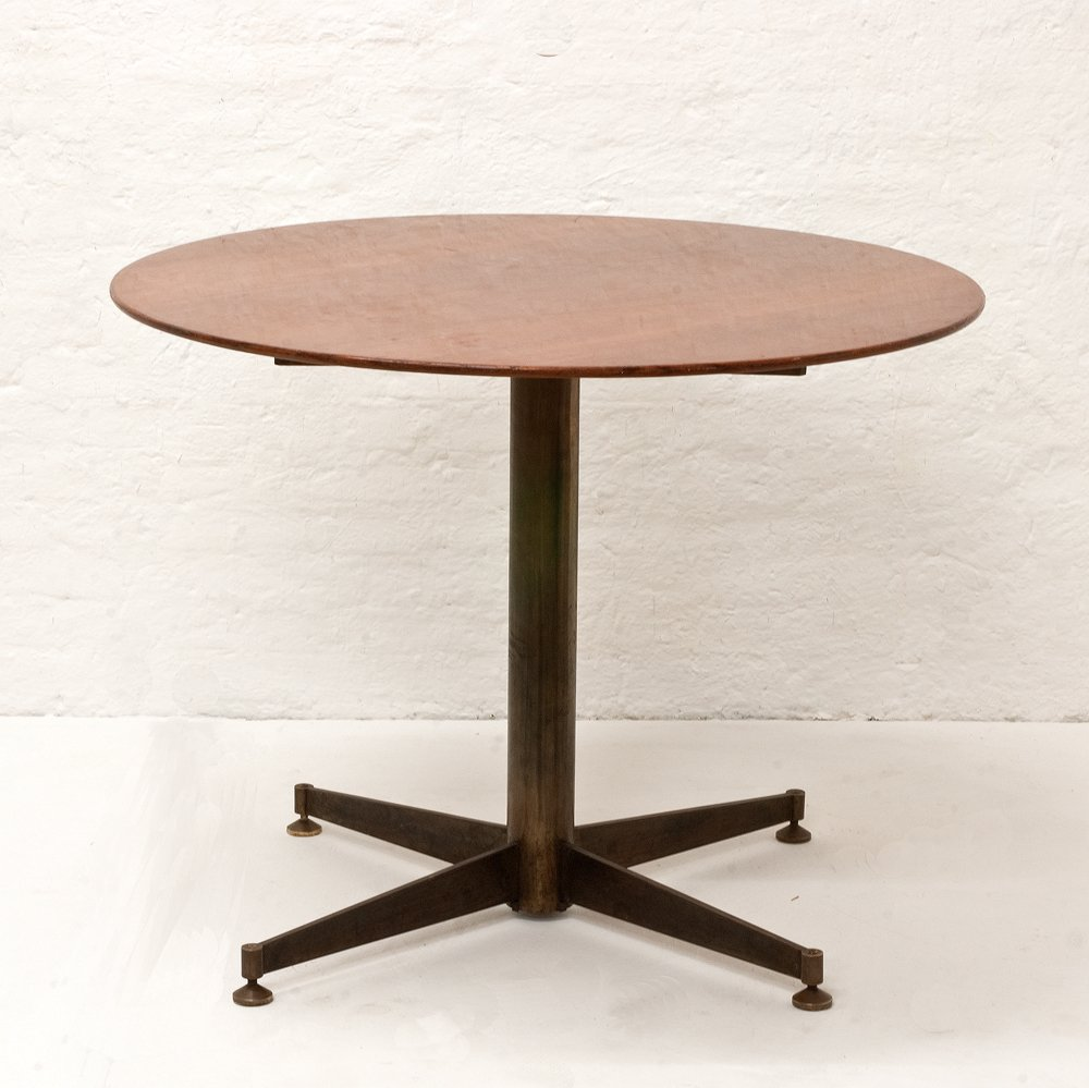 Italian Small Round Dining Table 1950s For Sale At Pamono