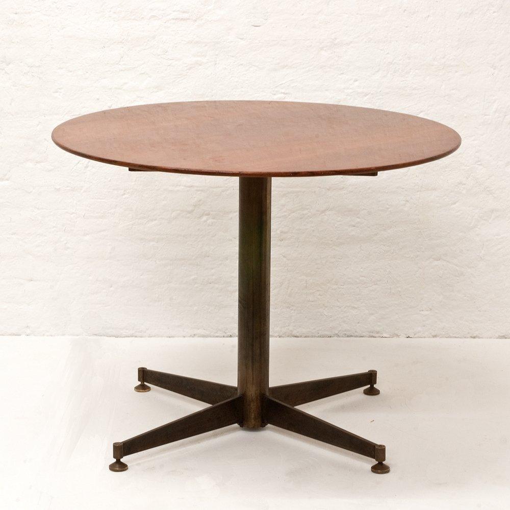 italian small round dining table 1950s en vente sur pamono. Black Bedroom Furniture Sets. Home Design Ideas
