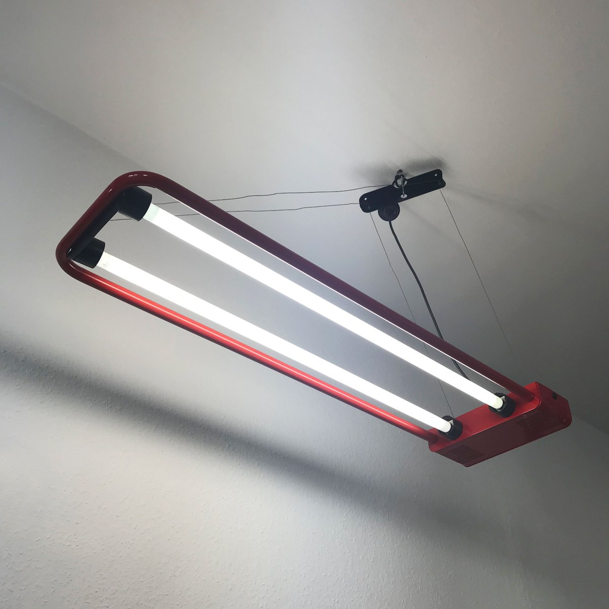 Large fluorescent ceiling light by gian n gigante for zerbetto price per piece arubaitofo Image collections