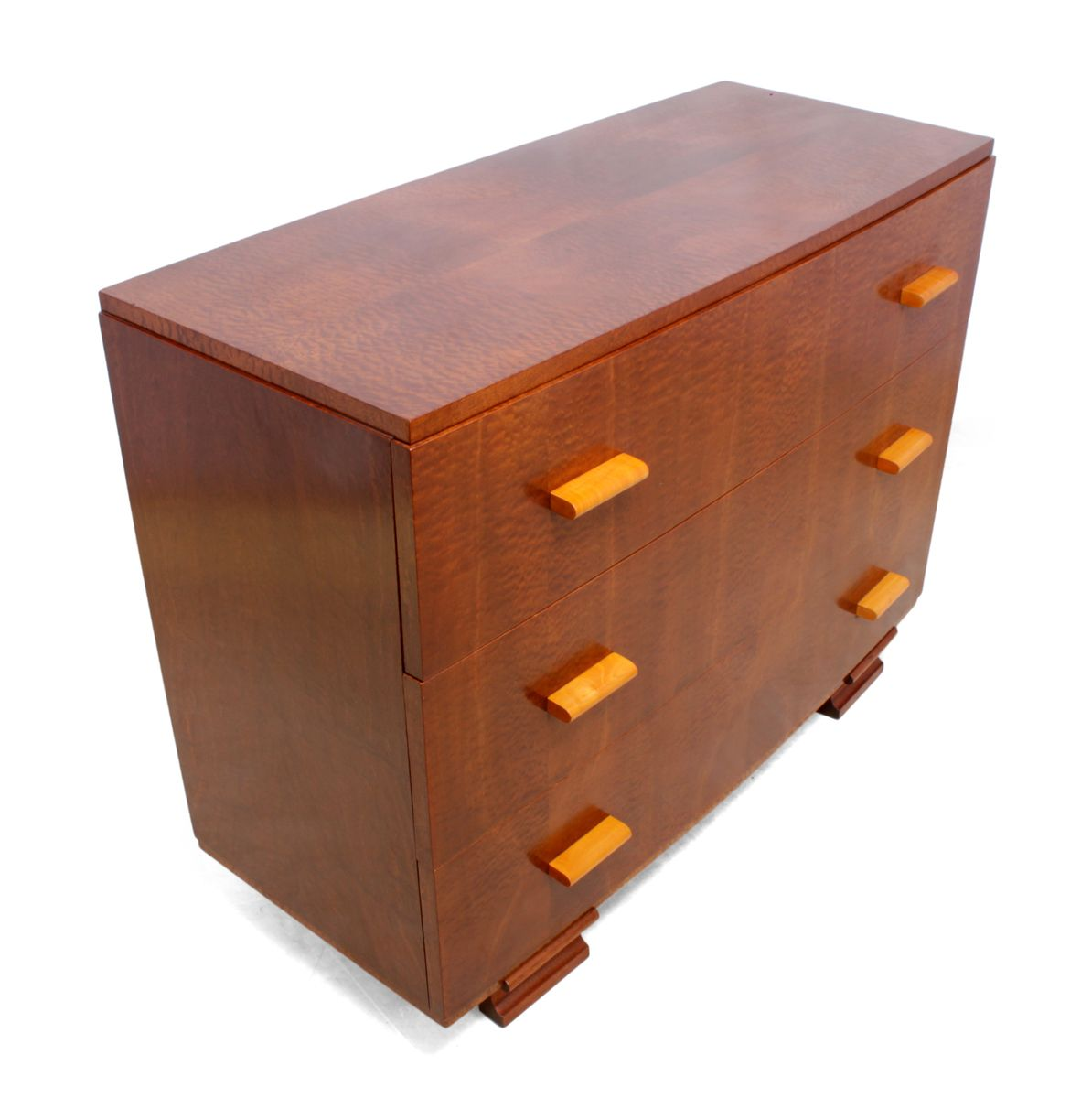 Art deco maple dresser 1930s for sale at pamono for Miroir art deco 1930