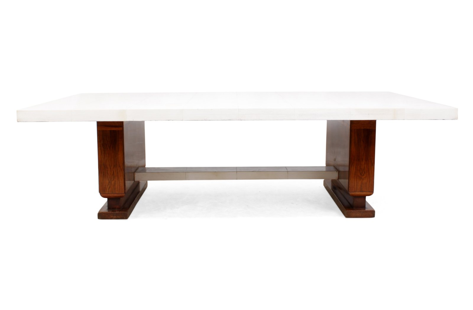 Art Deco Walnut Parchment Coffee Table 1930s For Sale At Pamono