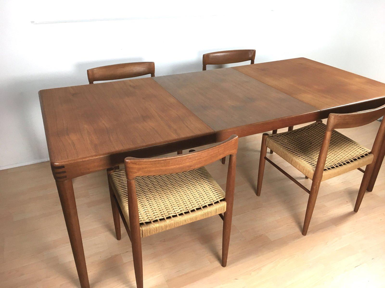 ausziehbarer esstisch von h w klein f r bramin 1960er bei pamono kaufen. Black Bedroom Furniture Sets. Home Design Ideas
