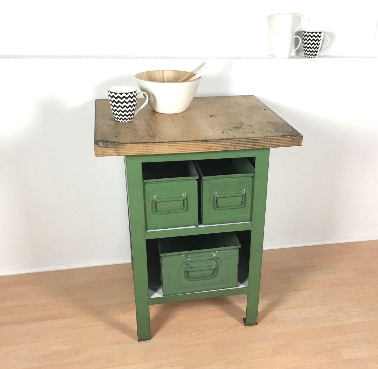 Kitchen Cabinet Manufacturers List Vintage Industrial Green Metal Cabinet 1970s For Sale At