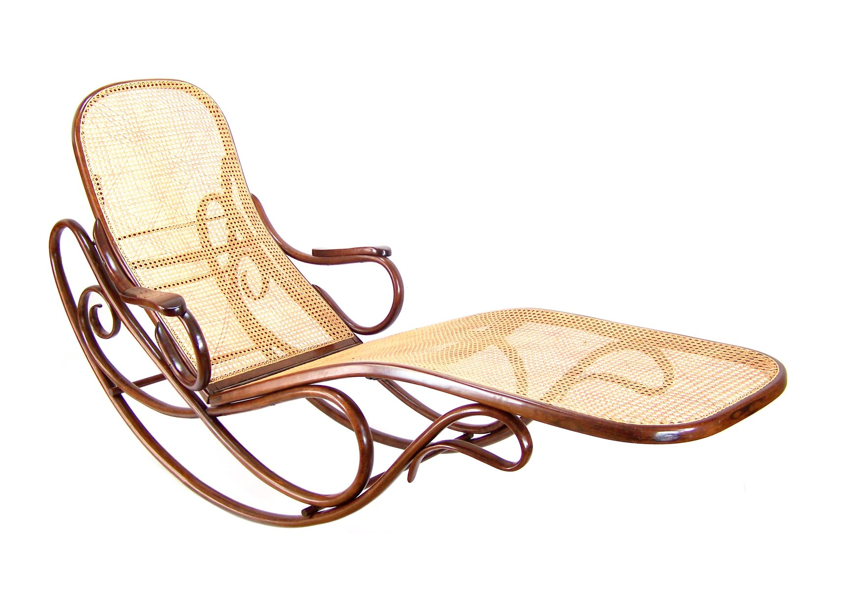No 7500 rocking chaise longue from gebr der thonet 1880s for Chaise longue company